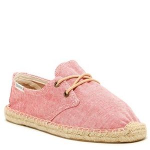 Soludo espadrille shoes red flats size 8